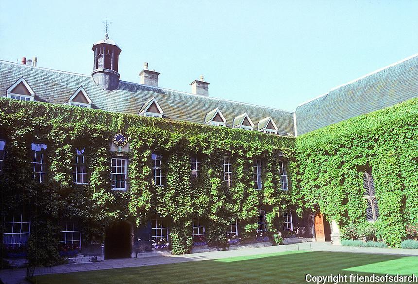 Oxford: Lincoln College, Chapel Quadrangle, North & East (Chapel) Range. 1624-31. Photo '87.