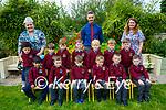 Scoil Realta Na Maidne, Listowel : M/s Spillane's junior infants class at Scoil Realta na Maidne with SNA M/S Shanahan  & School principal Ciaran Quirke.