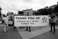 """"""" #MoreInCommon: London Celebrates Jo Cox"""".<br /> <br /> Memorial for Jo Cox MP in London's Trafalgar Square (Jo Cox was a Labour Member of Parliament who was brutally killed by the far-right extremist Thomas Mair on the 16th of June 2016).<br /> <br /> London, March-July 2016. Reporting the EU Referendum 2016 (Campaign, result and outcomes) observed through the eyes (and the lenses) of an Italian freelance photojournalist (UK and IFJ Press Cards holder) based in the British Capital with no """"press accreditation"""" and no timetable of the main political parties' events in support of the RemaIN Campaign or the Leave the EU Campaign.<br /> On the 23rd of June 2016 the British people voted in the EU Referendum... (Please find the caption on PDF at the beginning of the Reportage).<br /> <br /> For more photos and information about this event please click here: http://lucaneve.photoshelter.com/gallery/22-06-2016-MoreInCommon-London-Celebrates-Jo-Cox/G0000EaldWPY5_Sk/C0000GPpTqAGd2Gg<br /> <br /> For more information about the result please click here: http://www.bbc.co.uk/news/politics/eu_referendum/results"""