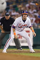 Clemson's Kyle Parker in Game 12 of the NCAA Division One Men's College World Series on June 25th, 2010 at Johnny Rosenblatt Stadium in Omaha, Nebraska.  (Photo by Andrew Woolley / Four Seam Images)