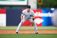 Tampa Yankees shortstop Kyle Holder (12) during the first game of a doubleheader against the Bradenton Marauders on April 13, 2017 at George M. Steinbrenner Field in Tampa, Florida.  Bradenton defeated Tampa 4-1.  (Mike Janes/Four Seam Images)