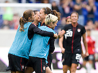 Tobin Heath, Lauren Cheney, Megan Rapinoe. The USWNT defeated Mexico, 1-0, during the game at Red Bull Arena in Harrison, NJ.