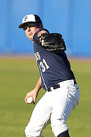 Pittsburgh Panthers JR Leonardi #31 during a game vs. the Central Michigan Chippewas at Chain of Lakes Park in Winter Haven, Florida;  March 11, 2011.  Pittsburgh defeated Central Michigan 19-2.  Photo By Mike Janes/Four Seam Images