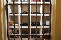 Domaine Haut-Lirou in St Jean de Cuculles. Pic St Loup. Languedoc. Bottle cellar. France. Europe. Bottle.