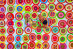 The making of colourful hand fans by Abdul Momin