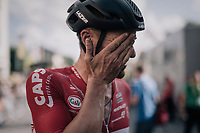 Adam Hansen (AUS/Lotto-Soudal) after having spent a day in the breakaway<br /> <br /> 104th Tour de France 2017<br /> Stage 3 - Verviers › Longwy (202km)