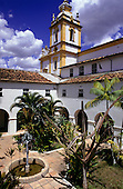 Cachoeira, Bahia State, Brazil. Courtyard of a colonial fazenda house.