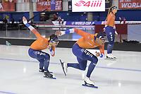 SPEEDSKATING: Calgary, 07-02-2020, ISU World Cup Speed Skating Calgary, Kai Verbij (NED), Dai Dai Ntab (NED), training, ©foto Martin de Jong
