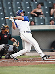 Fort Worth Cats Manager Chad Tredaway (9) in action during the American Association of Independant Professional Baseball game between the Grand Prairie AirHogs and the Fort Worth Cats at the historic LaGrave Baseball Field in Fort Worth, Tx. Fort Worth defeats Grand Prairie 6 to 1.....