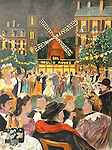 """""""Moulin Rouge""""<br /> Limited Edition Lithograph 31x23<br /> SN $950<br /> RN $1,100<br /> With Original Watercolor Remarque $1,500"""