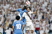 Real Madrid's Dani Ceballos (r) and Getafe CF's Amath Ndiaye during La Liga match. August 19,2018.  *** Local Caption *** © pixathlon<br /> Contact: +49-40-22 63 02 60 , info@pixathlon.de