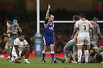 Referee Mike Fraser<br /> Dove Men Series 2013<br /> Wales v Tonga<br /> Millennium Stadium - Cardiff<br /> 22.11.13<br /> ©Steve Pope-SPORTINGWALES