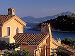 Italy, Sardinia, Porto Frailis with Torre San Gemigliano