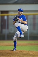 Burlington Royals relief pitcher Alex Luna (21) in action against the Bristol Pirates at Boyce Cox Field on July 10, 2015 in Bristol, Virginia.  The Pirates defeated the Royals 9-4. (Brian Westerholt/Four Seam Images)