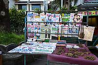 Yogyakarta, Java, Indonesia.  Sidewalk News Stand, Malioboro Street.
