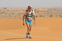 4th October 2021; Tisserdimine to Kourci Dial Zaid;  Marathon des Sables, stage 2 of  a six-day, 251 km ultramarathon, which is approximately the distance of six regular marathons. The longest single stage is 91 km long. This multiday race is held every year in southern Morocco, in the Sahara Desert. Andrea Domeniconi (ITA)