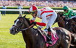 June 8, 2019 : #8, Bricks and Mortar, ridden by jockey Irad Ortiz, Jr., wins the Manhattan Stakes on Belmont Stakes Festival Saturday at Belmont Park in Elmont, New York. Scott Serio/Eclipse Sportswire/CSM