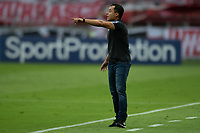 10th February 2021; Beira-Rio Stadium, Porto Alegre, Brazil; Brazilian Serie A, Internacional versus Sport Recife; Sport Recife manager Jair Ventura wacthes from the sideline