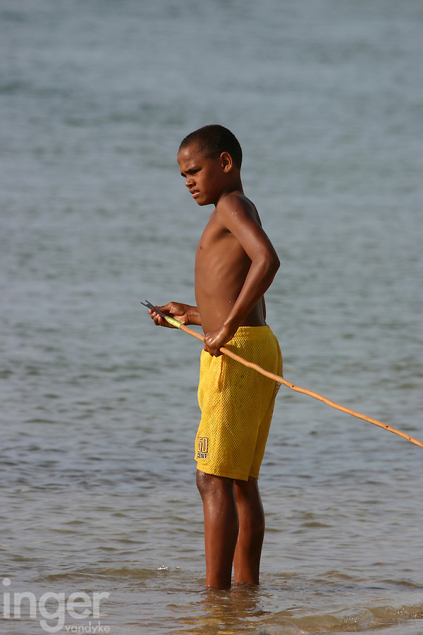 Child Spearfishing at Janie Creek, Mapoon, Cape York Peninsula