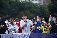 SÂO PAULO, SP, 29.05.2021 - PROTESTO-SP Guilherme Boulos durante protesto contra o presidente brasileiro Jair Bolsonaro na Av Paulista em Sao Paulo neste sábado, 29. (Foto: Andre Ribeiro/Brazil Photo Press)