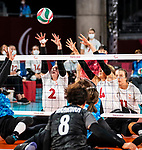 Julie Kozun and Jennifer Oakes, Tokyo 2020 - Sitting Volleyball // Volleyball Assis.<br /> Canada takes on Japan in sitting volleyball // Le Canada affronte le Japon en volleyball assis. 09/01/2021.
