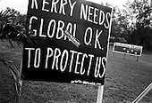 Arcadia, Florida.USA.October 29, 2004..Anti-Kerry sign in a city hit hard by recent hurricanes.