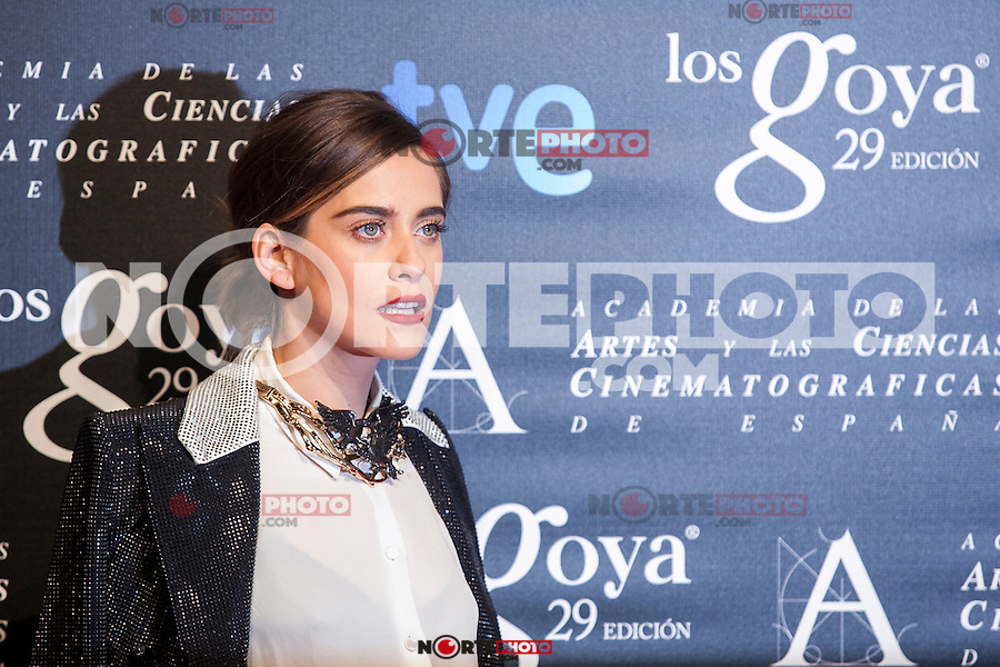 Maria Leon poses before the 2015 Goya Awards nominee ceremony in Madrid, Spain. January 19, 2015. (ALTERPHOTOS/Victor Blanco)