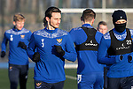 St Johnstone Training…. 06.01.21<br />Scott Tanser pictured during training at McDiarmid Park ahead of Saturday's game against local rivals Dundee Utd.<br />Picture by Graeme Hart.<br />Copyright Perthshire Picture Agency<br />Tel: 01738 623350  Mobile: 07990 594431