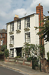 Rochester Kent Uk. Salisbury Villa Epaul Lane typical of its time white clapper board building. Charles Dickens lived in Rochester for many years and incorporated its buildings and the life of this historic Kennish Medway town in to many of his novels.