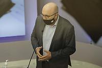 Campinas (SP), 01/10/2020 - Eleicoes/Debate - Nove candidatos a prefeito de Campinas (SP) se enfrentam nesta quinta-feira (01) no primeiro debate promovido pela Band. Alessandra Ribeiro (PCdoB), Andre Von Zuben (Cidadania), Artur Orsi (PSD), Dario Saadi (Republicanos), Delegada Teresinha (PTB), Dr. Helio (PDT), Rafa Zimbaldi (PL), Pedro Tourinho (PT) e Wilson Matos (Patriota) irao apresentar suas propostas e serao confrontados pelos seus adversarios. Esse grupo integra os partidos que tem cinco representantes no Congresso Nacional.<br />Na foto: Dario Saadi - Republicanos (Foto: Denny Cesare/Codigo 19/Codigo 19)
