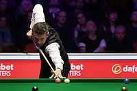 12th January 2020, Alexandra palace, London, United Kingdom; Mark Selby of England plays a shot during the round 1 match against Ali Carter of England at Snooker Masters 2020 at the Alexandra Palace .