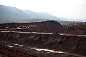 The excavated iron ore deposit belonging to the National Mineral Development Corporation is seen in Kirandul in Dantewara district of Chattisgarh, India.  Photograph: Sanjit Das/Panos