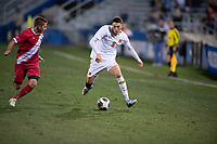 Santa Barbara, CA - Friday, December 7, 2018:  Maryland men's soccer defeated Indiana 2-0 in a semi-final match in the 2018 College Cup.  William James Herve.