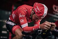Julien Bernard (FRA/Trek-Segafredo) warming up<br /> <br /> UCI MEN'S TEAM TIME TRIAL<br /> Ötztal to Innsbruck: 62.8 km<br /> <br /> UCI 2018 Road World Championships<br /> Innsbruck - Tirol / Austria