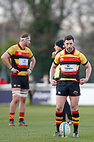 Tom Hodgson of Richmond Rugby lines up his kick during the English National League match between Richmond and Blackheath  at Richmond Athletic Ground, Richmond, United Kingdom on 4 January 2020. Photo by Carlton Myrie.
