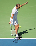 August 30,2019:   Daniel Evans (GBR) loses to Roger Federer (SUI) 6-2, 6-1, at the US Open being played at Billie Jean King National Tennis Center in Flushing, Queens, NY.  ©Jo Becktold/CSM