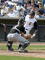 April 18, 2004:  Ryan Goleski of the Lake County Captains, Low-A South Atlantic League affiliate of the Cleveland Indians, during a game at Classic Park in Eastlake, OH.  Photo by:  Mike Janes/Four Seam Images