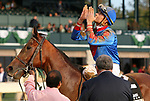 October 19, 2019 : #2 Bell's the One and jockey Corey Lanerie win the 21st running of the Lexus Raven Run Grade 2 $250,000 for owner Lothenbach stables and trainer Neil Pessin at Keeneland Race Course in Lexington, KY on October 19, 2019.  Candice Chavez/ESW/CSM