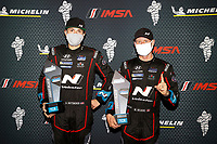 Winners #21 Bryan Herta Autosport w/ Curb Agajanian Hyundai Veloster N TCR, TCR: Mark Wilkins, Harry Gottsacker, podium