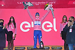 Race leader Joao Almeida (POR) Deceuninck-Quick Step retains the Maglia Rosa at the end of Stage 9 of the 103rd edition of the Giro d'Italia 2020 running 208km from San Salvo to Roccaraso (Aremogna), Sicily, Italy. 11th October 2020.  <br /> Picture: LaPresse/Gian Mattia D'Alberto   Cyclefile<br /> <br /> All photos usage must carry mandatory copyright credit (© Cyclefile   LaPresse/Gian Mattia D'Alberto)