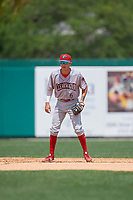 Clearwater Threshers shortstop Nick Maton (6) during a Florida State League game against the Dunedin Blue Jays on April 7, 2019 at Jack Russell Memorial Stadium in Clearwater, Florida.  Dunedin defeated Clearwater 2-1.  (Mike Janes/Four Seam Images)