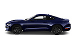 Car driver side profile view of a 2018 Ford Mustang Fastback Ecoboost 2 Door Coupe