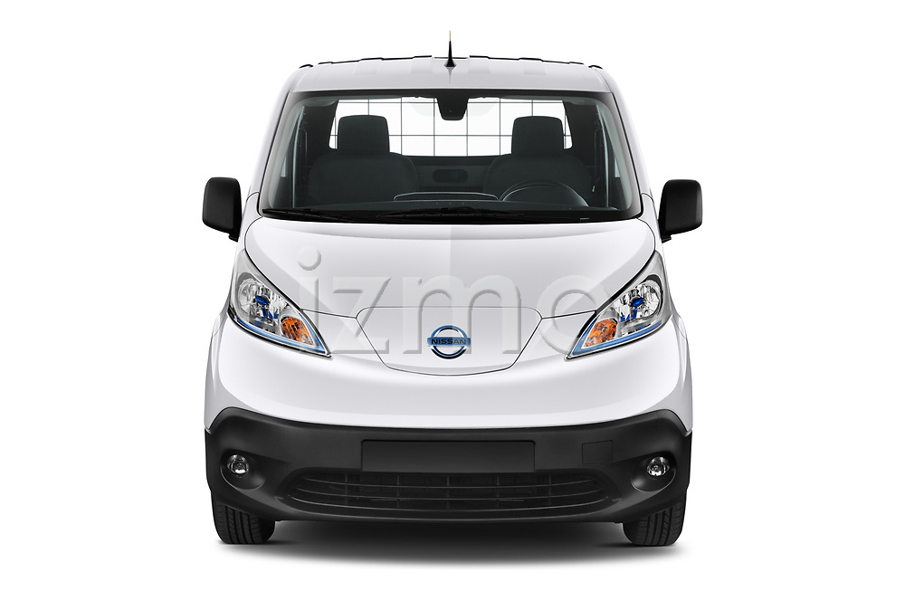 Straight front view of a Car photography straight front view of a 2021 Nissan e-NV200 Business 4 Door Cargo Van