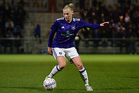 20180126 - OOSTAKKER , BELGIUM : Anderlecht's Ella Van Kerkhoven pictured during the quarter final of Belgian cup 2018 , a womensoccer game between KAA Gent Ladies and RSC Anderlecht , at the PGB stadion in Oostakker , friday 27 th January 2018 . PHOTO SPORTPIX.BE   DAVID CATRY