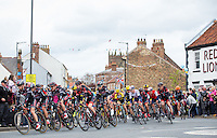 Picture by Alex Whitehead/SWpix.com - 02/05/2015 - Cycling - 2015 Tour de Yorkshire: Stage 2, Selby to York - Cult Energy lead the peloton.