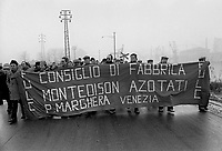 - Porto Marghera, manifestazione operaia (1978)....- Porto Marghera, workers trade-union manifestation  (1978) ..