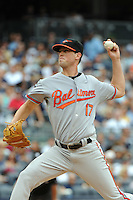 Baltimore Orioles pitcher Brian Matusz #17 during game against the New York Yankees at Yankee Stadium on September 5, 2011 in Bronx, NY.  Yankees defeated Orioles 11-10.  Tomasso DeRosa/Four Seam Images