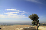 Israel, Lower Galilee, a view of Jezreel Valley from Mount Precipice
