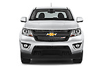 Car photography straight front view of a 2017 Chevrolet Colorado Z71 Crew Cab 4 Door Pick Up Front View