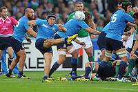 during Match 28 of the Rugby World Cup 2015 between Ireland and Italy - 04/10/2015 - Queen Elizabeth Olympic Park, London<br /> Mandatory Credit: Rob Munro/Stewart Communications